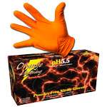 Orange Lightning Nitrile Gloves - Box (50 Pairs) - Large