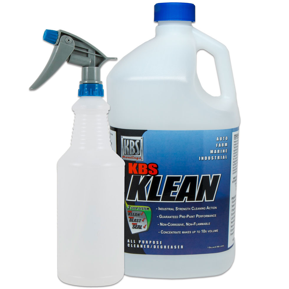 KBS Klean Gallon w/Spray Bottle and Sprayer - Powerful Concentrate Water Based Cleaner and Degreaser