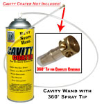 Reusable Cavity Wand Featuring 360° Spray Tip