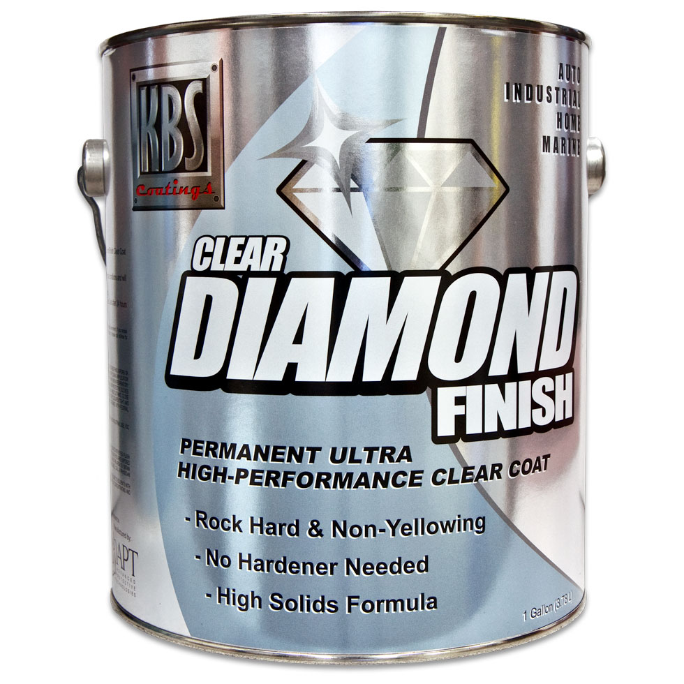 DiamondFinish Clear - Gallon - 1K Clear Coat - Direct To Metal or Other Coatings - Water Clear