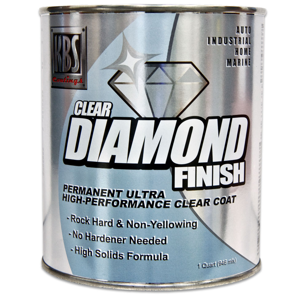 DiamondFinish Clear - Quart - 1K Clear Coat - Direct To Metal or Other Coatings - Water Clear