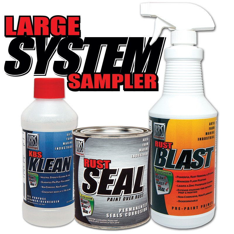 Large System Sampler Kit - Stop Rust Paint - KBS Coatings - RustSeal