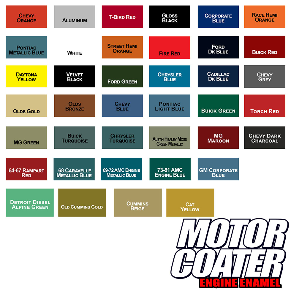 Motor Coater Engine Paint