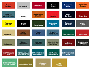 Motor Coater Engine Paint Colors
