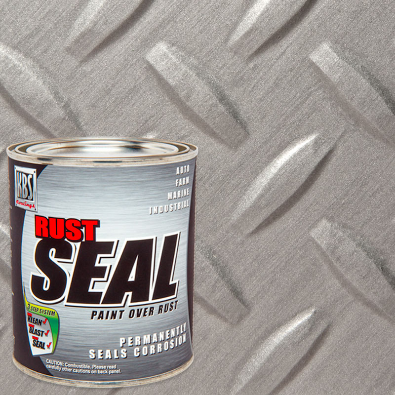 RustSeal Quart Galvanized Steel - Rust Prevention - Stop Rust Paint - Frame Paint and Concrete Sealer