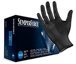 SemperForce Black Nitrile Gloves