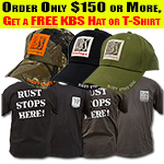 KBS Hats or T-Shirts - Free with $150 or More!