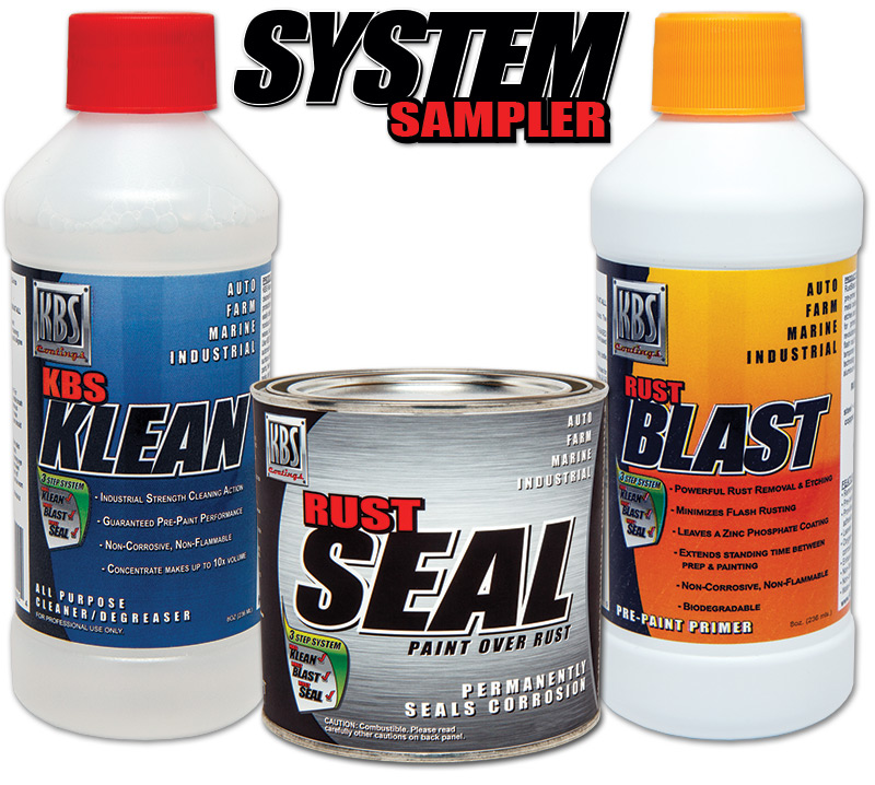 System Sampler - Stop Rust Paint - KBS Coatings - RustSeal