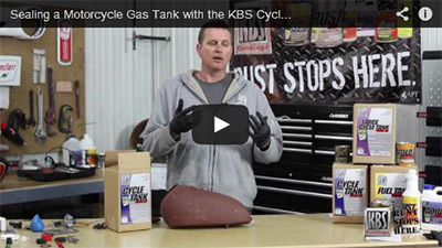 Sealing a Cycle Gas Tank with the Cycle Tank Sealer Kit