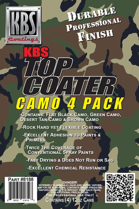 Camo Aerosol 4 Pack - KBS Top Coater