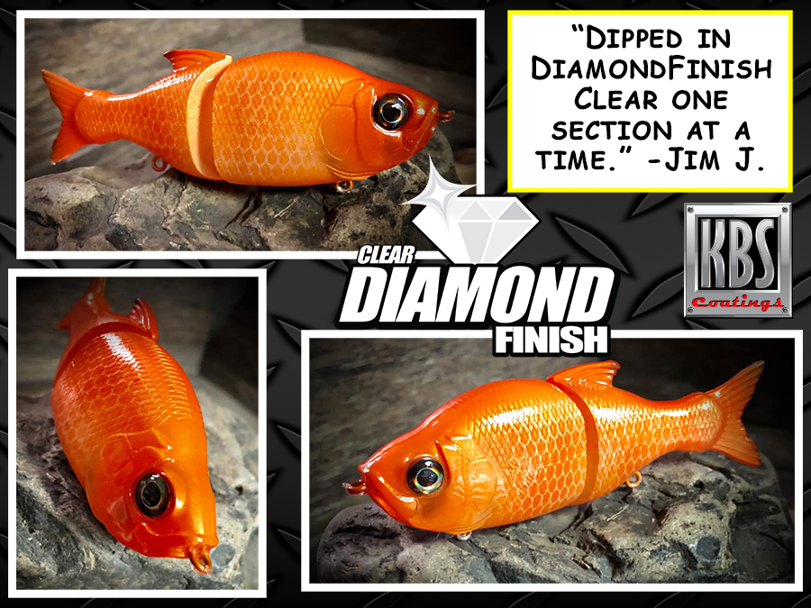 DiamondFinish Clear on Fishing Lure